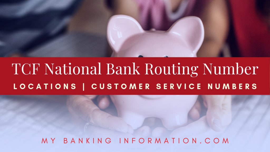 TCF National Bank Routing Number