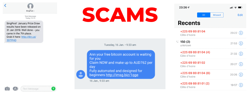 Scam Phone Number and Messages