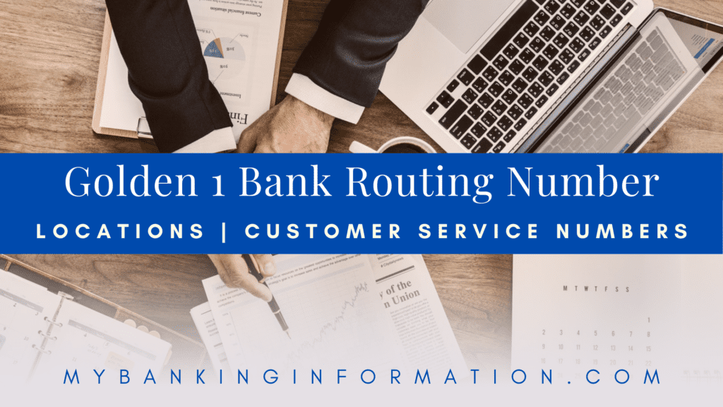 Golden 1 Credit Union Bank Routing Number