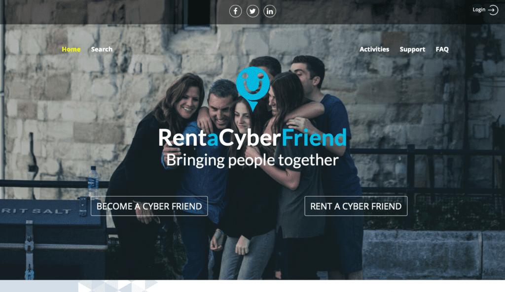 Rent a Cyber friend website