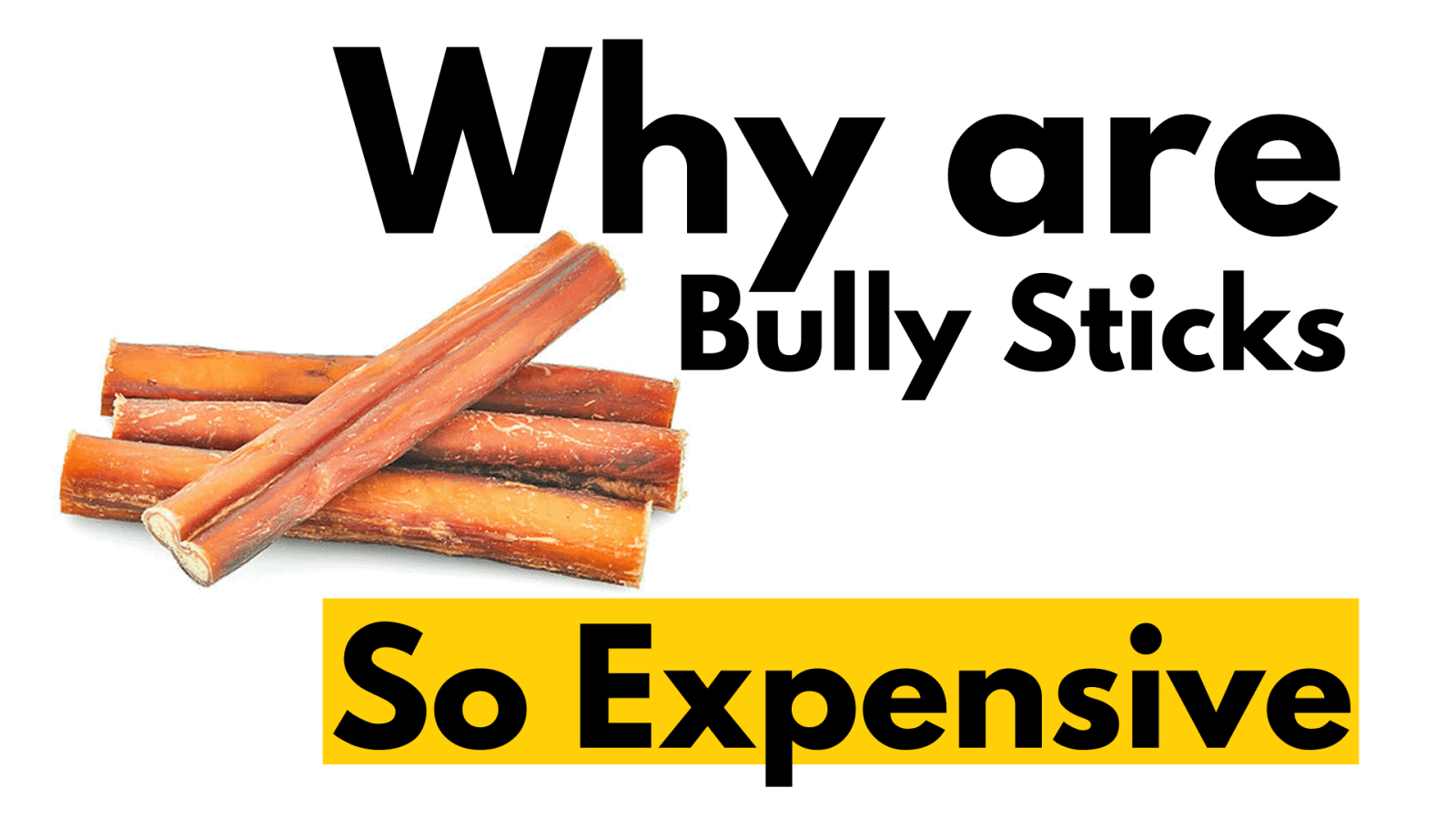 Why are bully sticks so expensive