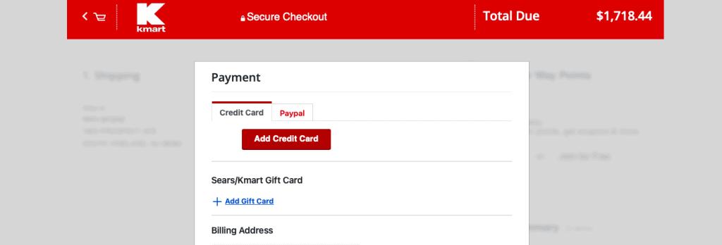 Kmart payment methods
